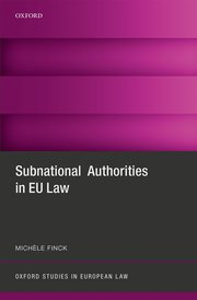 Cover for   Subnational Authorities in EU Law