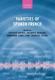 Cover for   Varieties of Spoken French