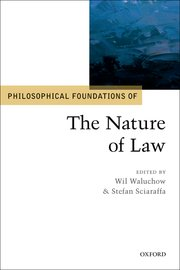 Cover for   Philosophical Foundations of the Nature of Law