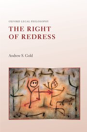 Cover for   The Right of Redress