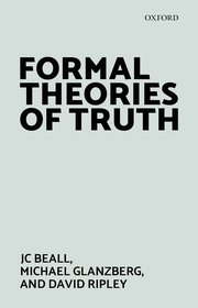 Cover for   Formal Theories of Truth
