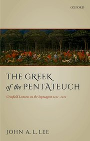 Cover for   The Greek of the Pentateuch