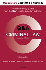 Cover for   Concentrate Q&A Criminal Law 2e