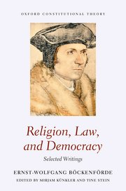 Cover for   Religion, Law, and Democracy