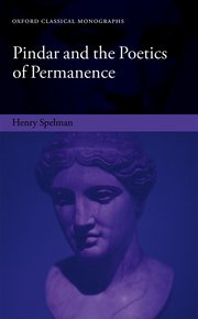 Cover for   Pindar and the Poetics of Permanence