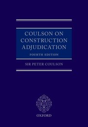 Cover for   Coulson on Construction Adjudication
