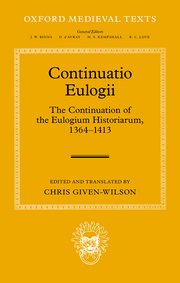 Cover for   Continuatio Eulogii
