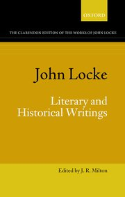 Cover for   John Locke: Literary and Historical Writings