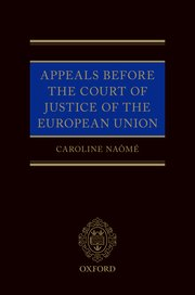 Cover for   Appeals before the Court of Justice of the European Union