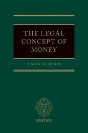 Cover for   The Legal Concept of Money