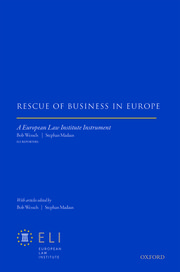 Cover for   Rescue of Business in Europe