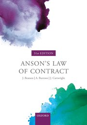 Cover for   Ansons Law of Contract