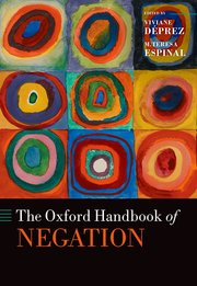 Cover for   The Oxford Handbook of Negation