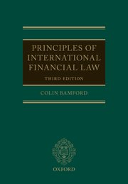 Cover for   Principles of International Financial Law