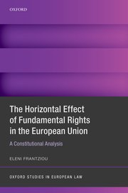 Cover for   The Horizontal Effect of Fundamental Rights in the European Union