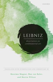 Cover for   Leibniz: Dissertation on Combinatorial Art