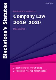 Cover for   Blackstones Statutes on Company Law 2019-2020