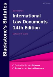 Cover for   Blackstones International Law Documents