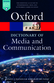 Cover for   A Dictionary of Media and Communication