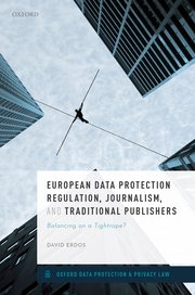 Cover for   European Data Protection Regulation, Journalism, and Traditional Publishers