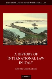 Cover for   A History of International Law in Italy