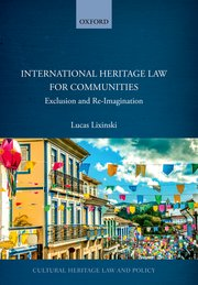 Cover for   International Heritage Law for Communities