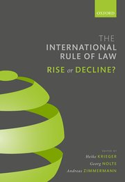 Cover for   The International Rule of Law