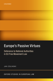 Cover for   Europes Passive Virtues