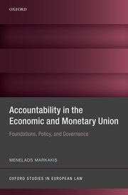 Cover for   Accountability in the Economic and Monetary Union