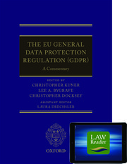 Cover for   The EU General Data Protection Regulation (GDPR): A Commentary Digital Pack