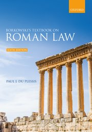 Cover for   Borkowskis Textbook on Roman Law