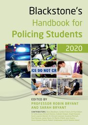 Cover for   Blackstones Handbook for Policing Students 2020