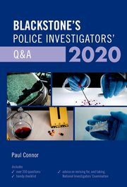 Cover for   Blackstones Police Investigators Q&A 2020