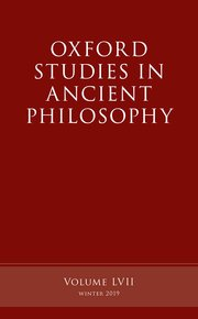 Cover for   Oxford Studies in Ancient Philosophy, Volume 57