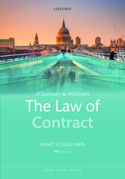 Cover for   OSullivan & Hilliards The Law of Contract