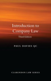 Cover for   Introduction to Company Law