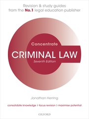 Cover for   Criminal Law Concentrate