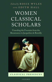 Cover for   Women Classical Scholars