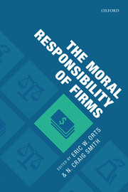 Cover for   The Moral Responsibility of Firms