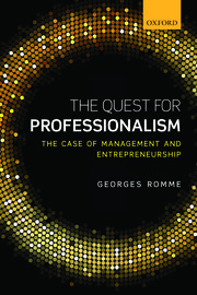 Cover for   The Quest for Professionalism