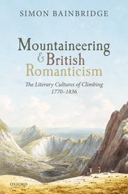 Cover for   Mountaineering and British Romanticism