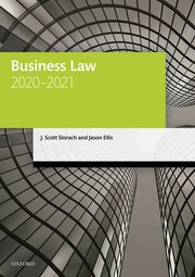 Cover for   Business Law 2020-2021