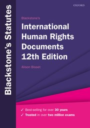 Cover for   Blackstones International Human Rights Documents