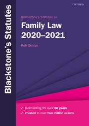 Cover for   Blackstones Statutes on Family Law 2020-2021