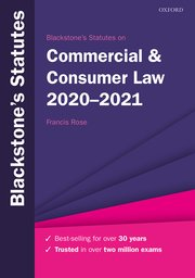Cover for   Blackstones Statutes on Commercial & Consumer Law 2020-2021