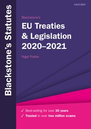 Cover for   Blackstones EU Treaties & Legislation 2020-2021
