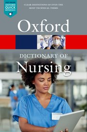 Cover for   A Dictionary of Nursing