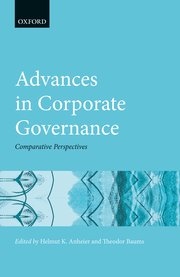 Cover for   Advances in Corporate Governance