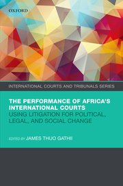 Cover for   The Performance of Africas International Courts