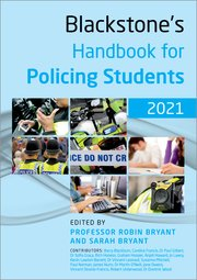 Cover for   Blackstones Handbook for Policing Students 2021